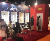 Stand de Airfal en Light Middle East 2016.