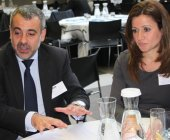 Helder Carvalho, director general de ABM Rexel, y Carolina Currais, directora de marketing.