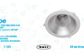 El downlight Led Kobe está disponible en varias potencias.